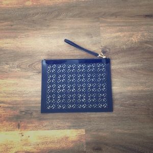 Navy Tory Burch Pouch